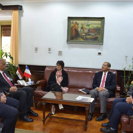 Alexandeia University recieves the French Consul to discuss scientific, cultural and environmental cooperation